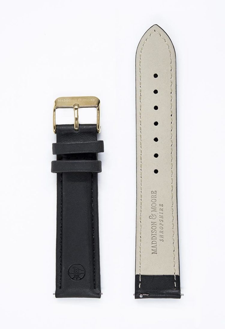 Luxurious leather unisex watch strap